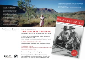 Invitation 'The Dealer is the Devil' by Adrian Newstead