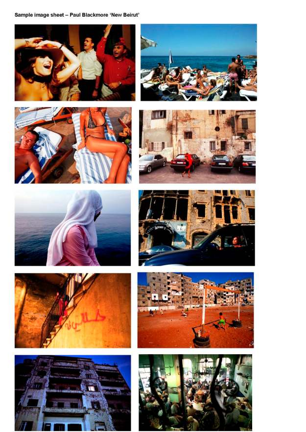Sample Image sheet Paul Blackmore NEW BEIRUT exhibition
