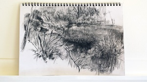 robert shepherd lake at wild valley art park lr