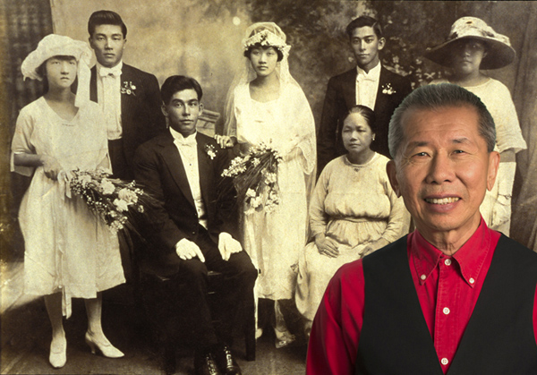 william yang with family portrait for his film blood links